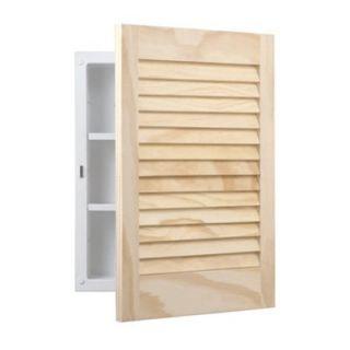 Broan Nutone Unfinished Wood Louver Door Polystyrene Body 16W x 22H in. Medicine Cabinet 607ADJ   Medicine Cabinets