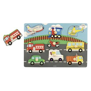 Ryans Room Transportation and Farm Animal Classic Puzzle Set 3 Puzzles   Learning Aids