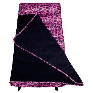 Wildkin Pink Leopard Easy Clean Nap   Kids Sleeping Bags