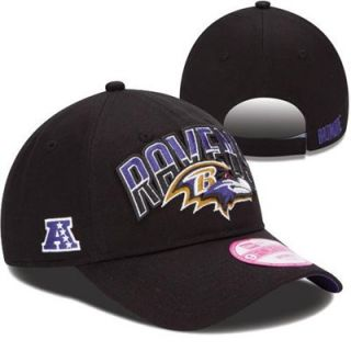 85ee3911eff ... New Era Baltimore Ravens Ladies 2013 NFL Draft 9FORTY Adjustable Hat  Black ...