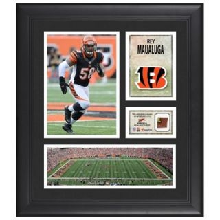 Rey Maualuga Cincinnati Bengals Framed 15 x 17 Collage with Game Used Football