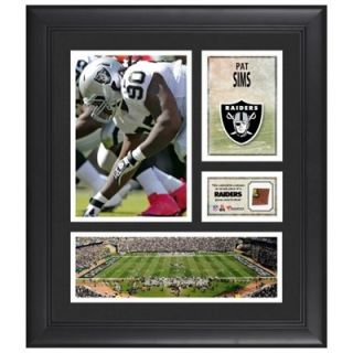 Pat Sims Oakland Raiders Framed 15 x 17 Collage with Game Used Football