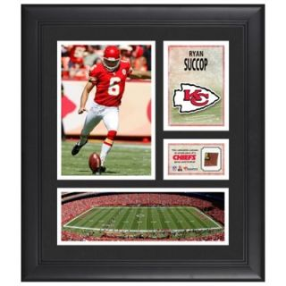 Ryan Succop Kansas City Chiefs Framed 15 x 17 Collage with Game Used Football