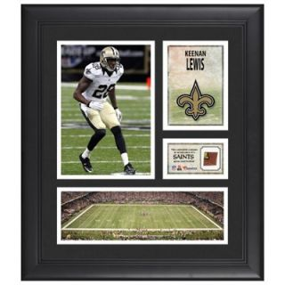 Keenan Lewis New Orleans Saints Framed 15 x 17 Collage with Game Used Football