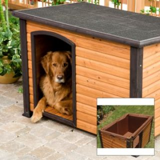 Precision Extreme Outback Log Cabin Dog House and Insulation Kit   Dog Houses