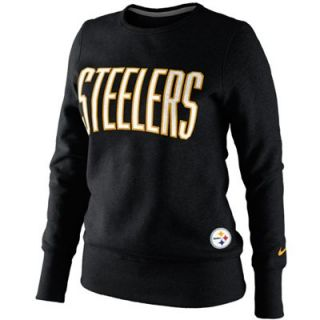 Nike Pittsburgh Steelers Ladies Tailgater Fleece Pullover Sweatshirt   Black