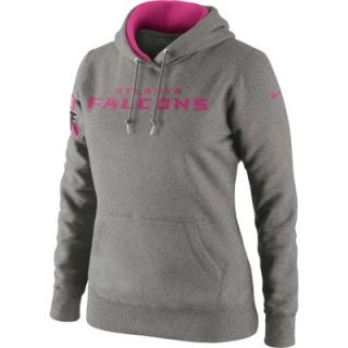 Nike Atlanta Falcons Ladies Breast Cancer Awareness Tailgater Pullover Hoodie   Ash