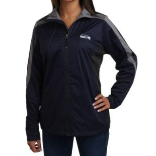 Antigua Seattle Seahawks Ladies Discover Full Zip Jacket   College Navy