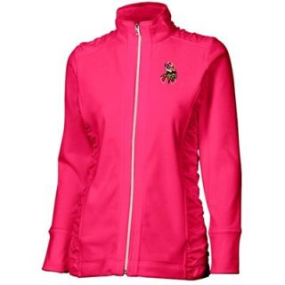 Cutter & Buck Minnesota Vikings Womens Arboretum Breast Cancer Awareness Full Zip Jacket   Pink