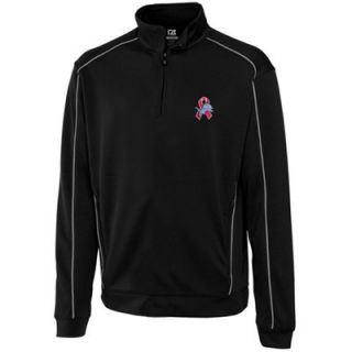 Cutter & Buck Detroit Lions Breast Cancer Awareness Edge Half Zip Pullover Performance Jacket   Black