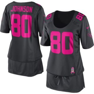 Nike Andre Johnson Houston Texans Womens Breast Cancer Awareness Fashion Jersey   Anthracite
