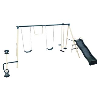 Flexible Flyer Backyard Flyer 6 Station Metal Swing Set   Swing Sets