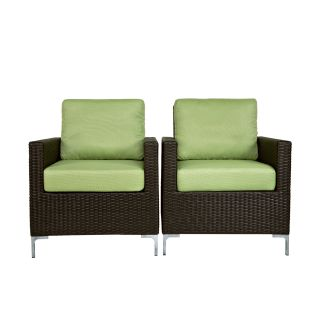 angeloHOME Napa Springs Chair   Summer Home Bamboo Green   Set of 2   Upholstered Club Chairs