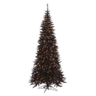 Vickerman Black Slim Fir Pre lit Christmas Tree   Christmas Trees