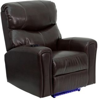 Flash Furniture Fully Powered Automatic Massaging Leather Recliner   Recliners