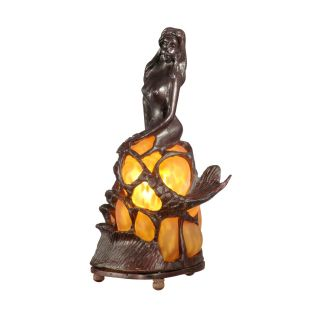 Dale Tiffany Amber Mermaid Accent Lamp   Tiffany Table Lamps