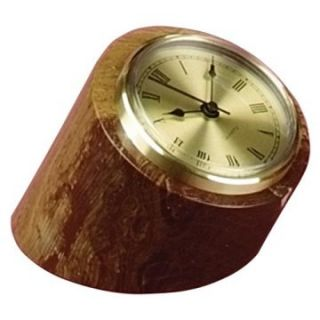 Swirl Amber Marble Tilted Pillar Desktop Clock   Desktop Clocks