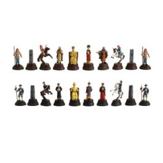 Chinese Qing Dynasty Hand Painted Metal Chessmen   Chess Pieces
