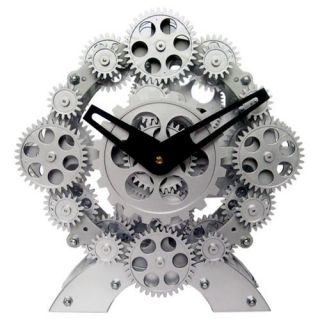 Maples Sales Moving gear Desktop Clock   9W in.   Desktop Clocks