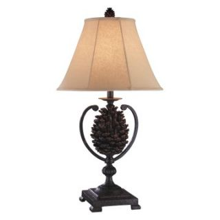 Stein World 97867 Rustic Iron Pine Cone Table Lamp   Pack of 2   Table Lamps