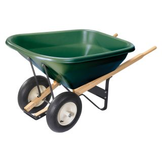 Scenic Lane Series 10 cu ft. Dual Wheel Wheelbarrow   Wheelbarrows