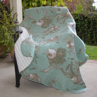 Greenland Home Fashions Bora Bora   50W x 60L in. Quilted Throw   Decorative Throws