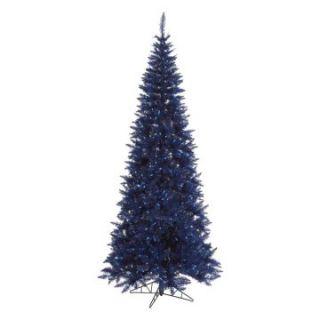 Vickerman Dark Blue Slim Fir Pre lit Christmas Tree   Christmas Trees