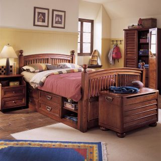 Stanley Young America Arched Panel Twin Bed Set Side