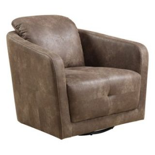 Emerald Home Blakely Swivel Chair   Palance Silt   Upholstered Club Chairs