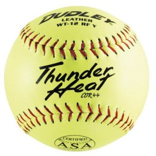 Dudley ASA 12 in. Thunder Heat Softballs   1 Dozen   Balls