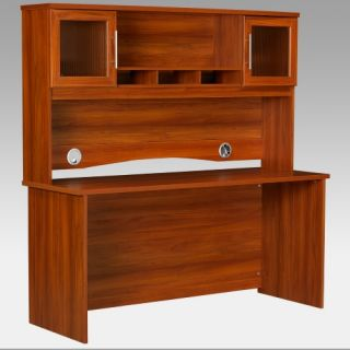 Ameriwood Credenza and Hutch Expert Plum   Computer Desks