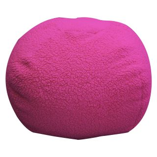 Newco Kids Sherpa Hot Pink Bean Bag   Bean Bags