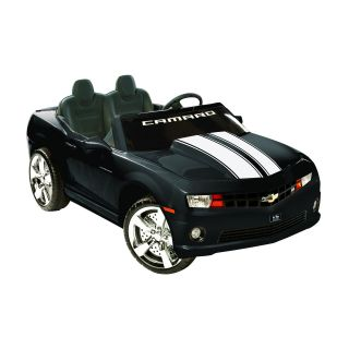 Kidz Motorz 12V Black 2 Seater Racing Camaro with MP3 Jack   Battery Powered Riding Toys