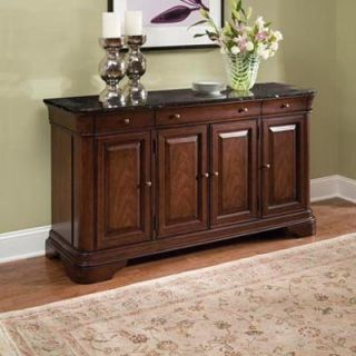 Legacy Heritage Court Credenza with Marble Top   Dining Accent Furniture