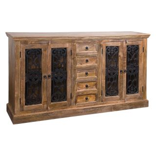 Coast to Coast 43513 4 Door and 5 Drawer Credenza with Iron   Dining Accent Furniture