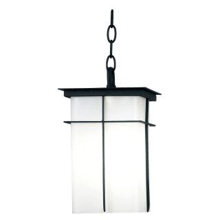 Kenroy Home Mesa Energy Star Hanging Lantern 12 in. Textured Black   Outdoor Hanging Lights