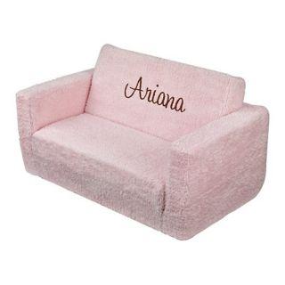 ... KidKraft Personalized Laguna Kids Club Chair; KidKraft Personalized  Powder Pink Chenille Lilu0027 Lounger Sleeper Specialty ...