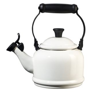 Le Creuset Demi 1.25 qt. Stainless Steel Whistling Teakettle   White   Stove Top Tea Kettles