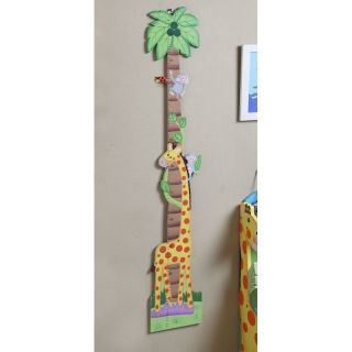 Teamson Design Sunny Safari Growth Chart   Kids and Nursery Wall Art