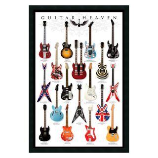 Guitar Heaven Framed Wall Art   25.41W x 37.41H in.   Photography