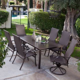 Coral Coast Bellagio Wicker Patio Dining Set   Seats 6   Wicker Dining Sets