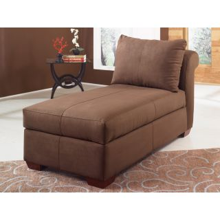 Klaussner Microsuede Blake Chaise Lounge   Indoor Chaise Lounges
