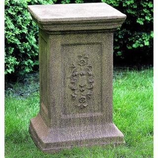 Campania International Arno Cast Stone Pedestal For Urns and Statues   Garden Decor