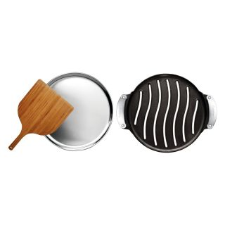 Cuisinart Pre Seasoned Cast Iron Grilled Pizza Set   Grill Accessories