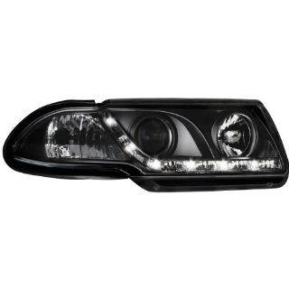 Dectane SWO03AGXB DAYLINE Scheinwerfer Opel Astra F 91 94 _ TFL Optik _ black: Auto