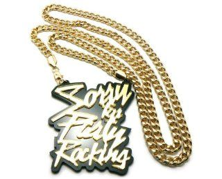 "Huge LMFAO Sorry for Party Rocking Anh?nger w/36"" Cuban Kette Gold: Schmuck"