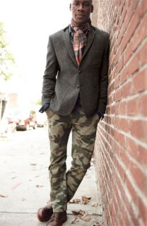 Dockers® Wool Blazer, PRPS Denim Shirt & Dockers® Camo Chinos