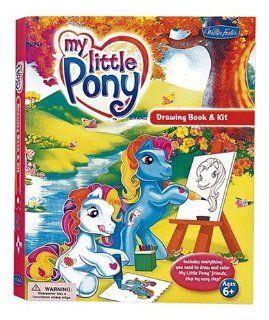 My Little Pony Drawing Book & Kit With 32 Page How To Draw Book & Sketch Pad and Stickers and Pencil Sharpener and 6 Fine Line Marke Walter Foster Drawing Kits Ken Edwards Englische Bücher