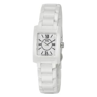 ESQ by Movado Women's 'Venture' Stainless Steel and Ceramic Swiss Quartz Watch ESQ Women's ESQ Watches