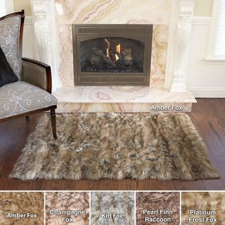 Wild Mannered Luxury Long Faux Fur Rug (3'4 x 4'10) Accent Rugs
